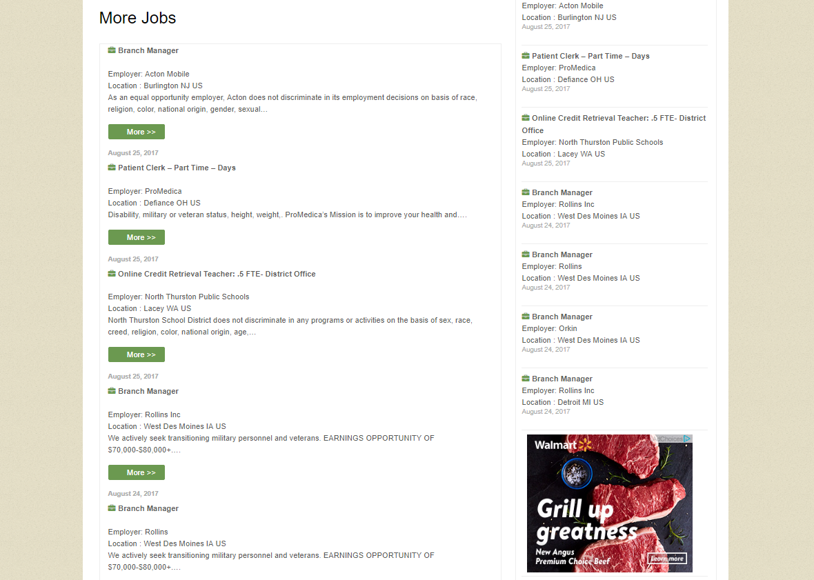 Job Portal our WordPress consultants developed in response to a client's need