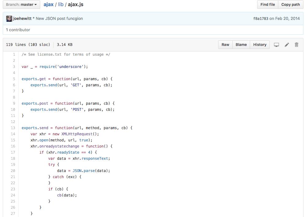 An example of an AJAX script.